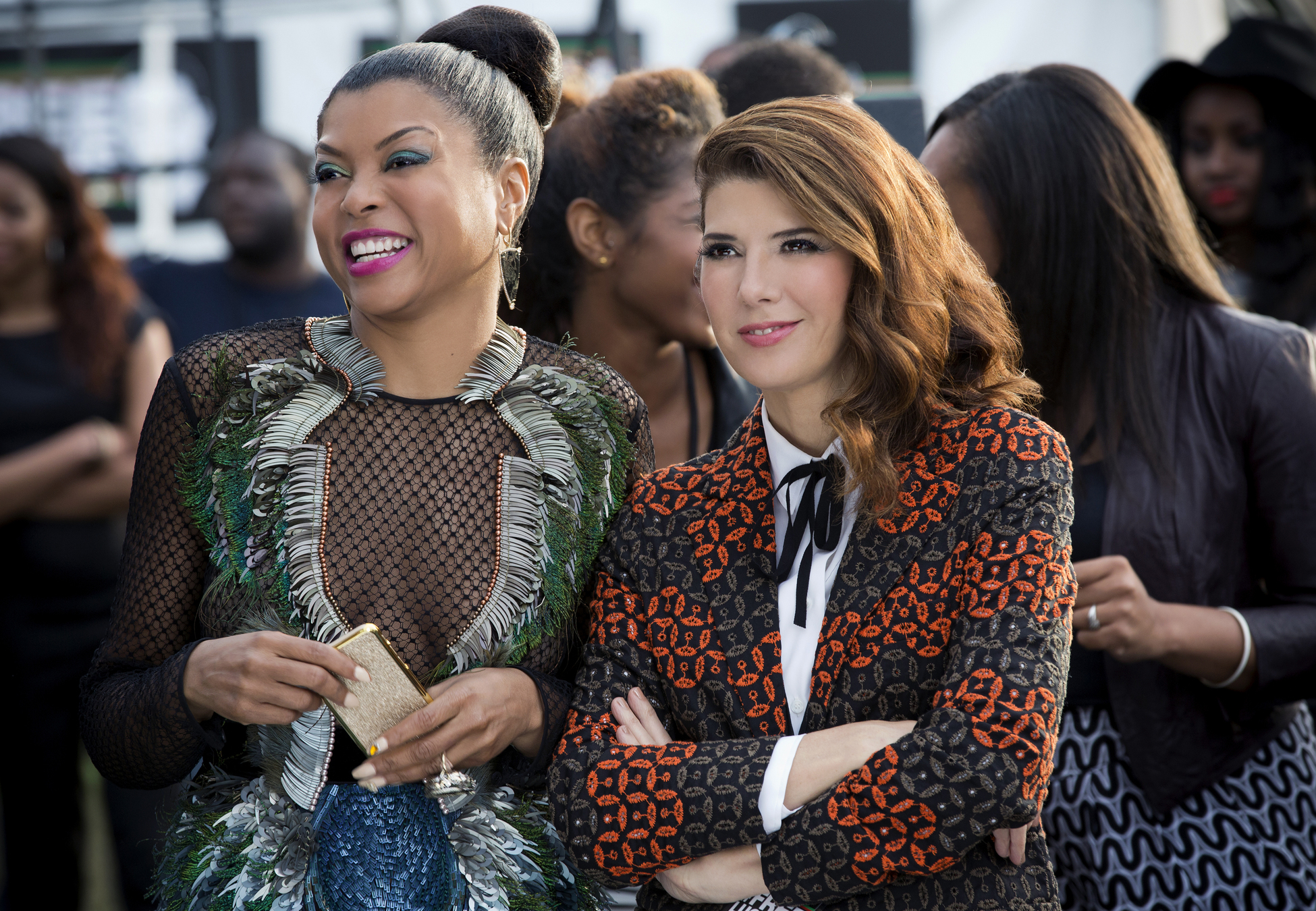 EMPIRE: Pictured L-R: Taraji P. Henson as Cookie Lyon and guest star Marisa Tomei as Mimi Whiteman in the ÒThe Devils Are HereÓ Season Two premiere episode of EMPIRE airing Wednesday, Sept. 23 (9:00-10:00 PM ET/PT) on FOX.  ©2015 Fox Broadcasting Co. Cr: Chuck Hodes/FOX.