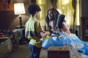 EMPIRE: Pictured L-R: Guest stars Shannon Brown as Young Dwight Walker and Kelly Rowland as Leah in the ÒFires Of HeavenÓ episode of EMPIRE airing Wednesday, Oct. 7 (9:00-10:00 PM ET/PT) on FOX. ©2015 Fox Broadcasting Co. Cr: Chuck Hodes/FOX.