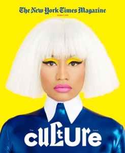 Nicki Minaj on the cover of New York Times Magazine