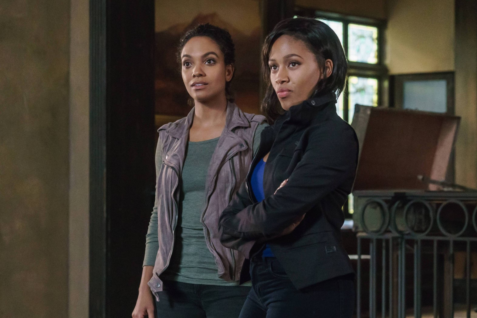 "SLEEPY HOLLOW: L-R: Lyndie Greenwood and Nicole Beharie in the ""The Sister Mills"" episode of SLEEPY HOLLOW airing Thursday, Oct. 22 (9:00-10:00 PM ET/PT) on FOX. ©2015 Fox Broadcasting Co. CR: Tina Rowden/FOX"