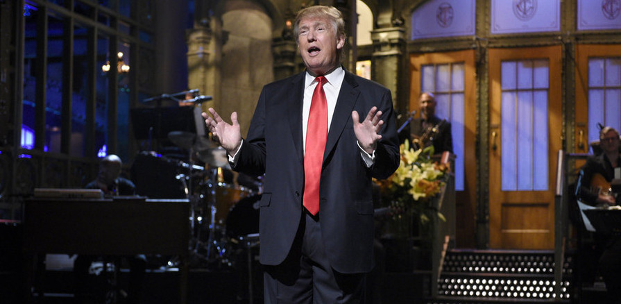 "SATURDAY NIGHT LIVE -- ""Donald Trump"" Episode 1687 -- Pictured: Donald Trump during the monologue on November 7, 2015 -- (Photo by: Dana Edelson/NBC)"