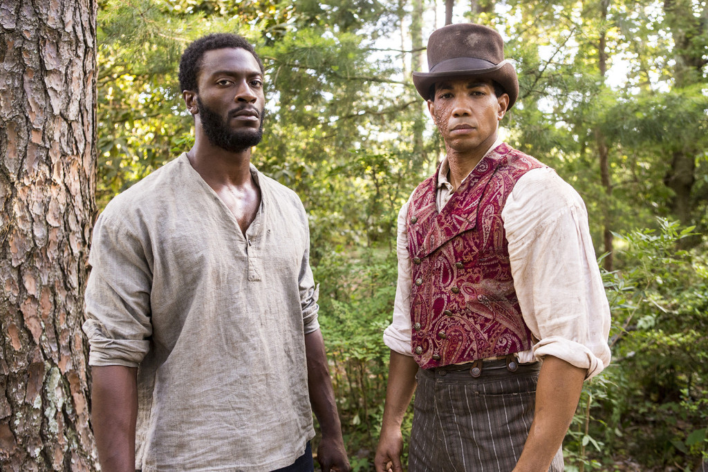 L-R: Aldis Hodge and Alano Miller. Photo credit: WGN America