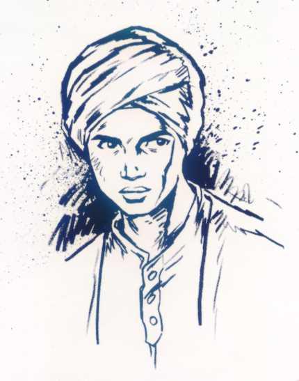 Character art of Hadji. Hanna-Barbera.