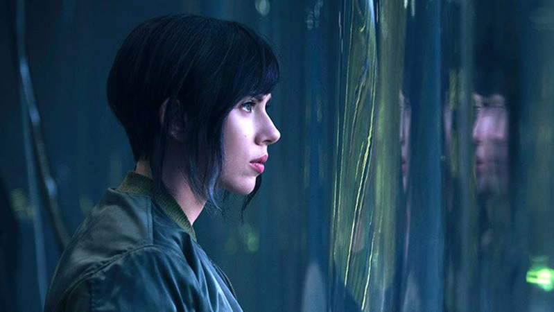 Scarlett Johansson as The Major (Major Kusanagi) in Ghost in the Shell. (Paramount)