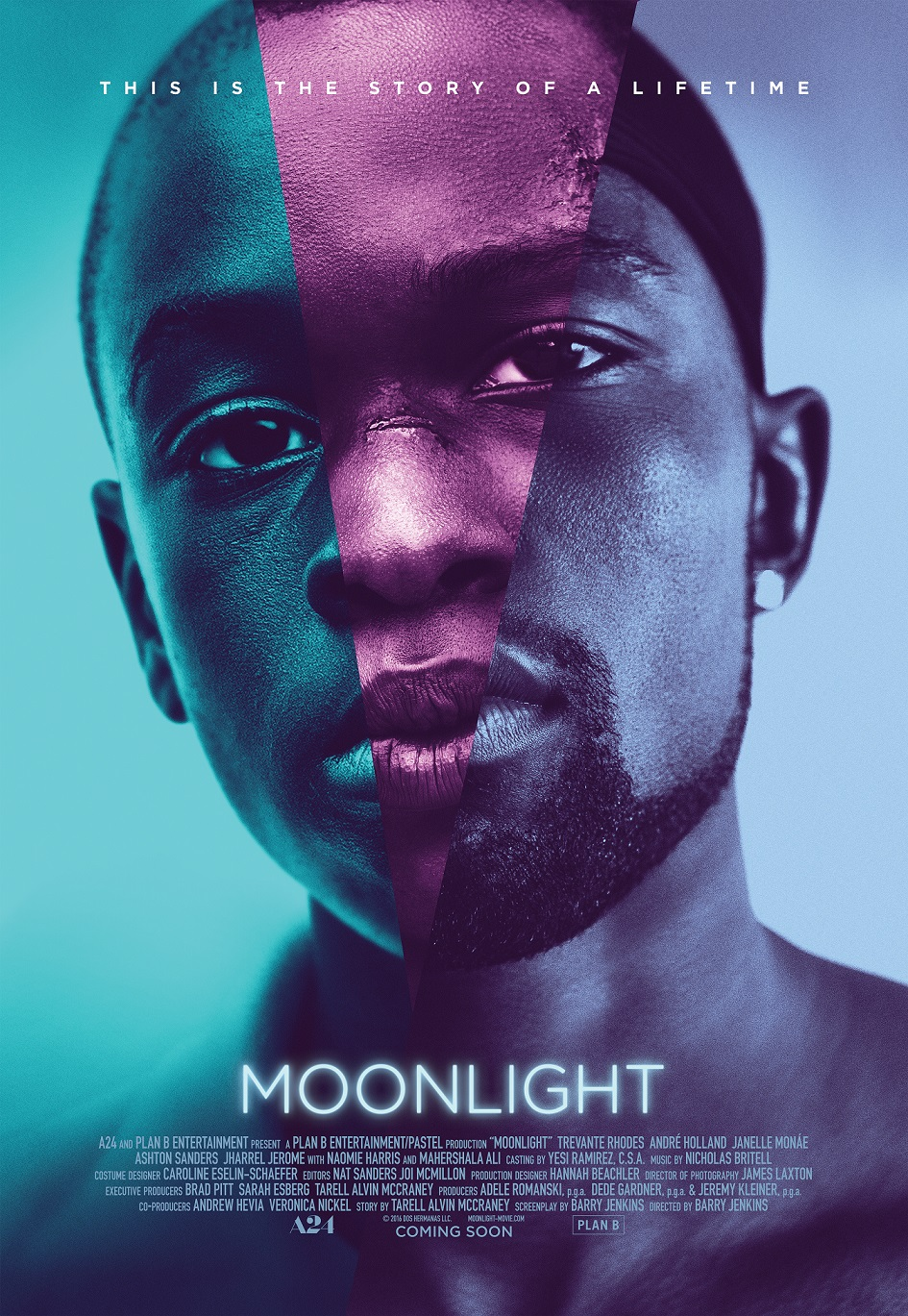 """Moonlight"" poster. A24"
