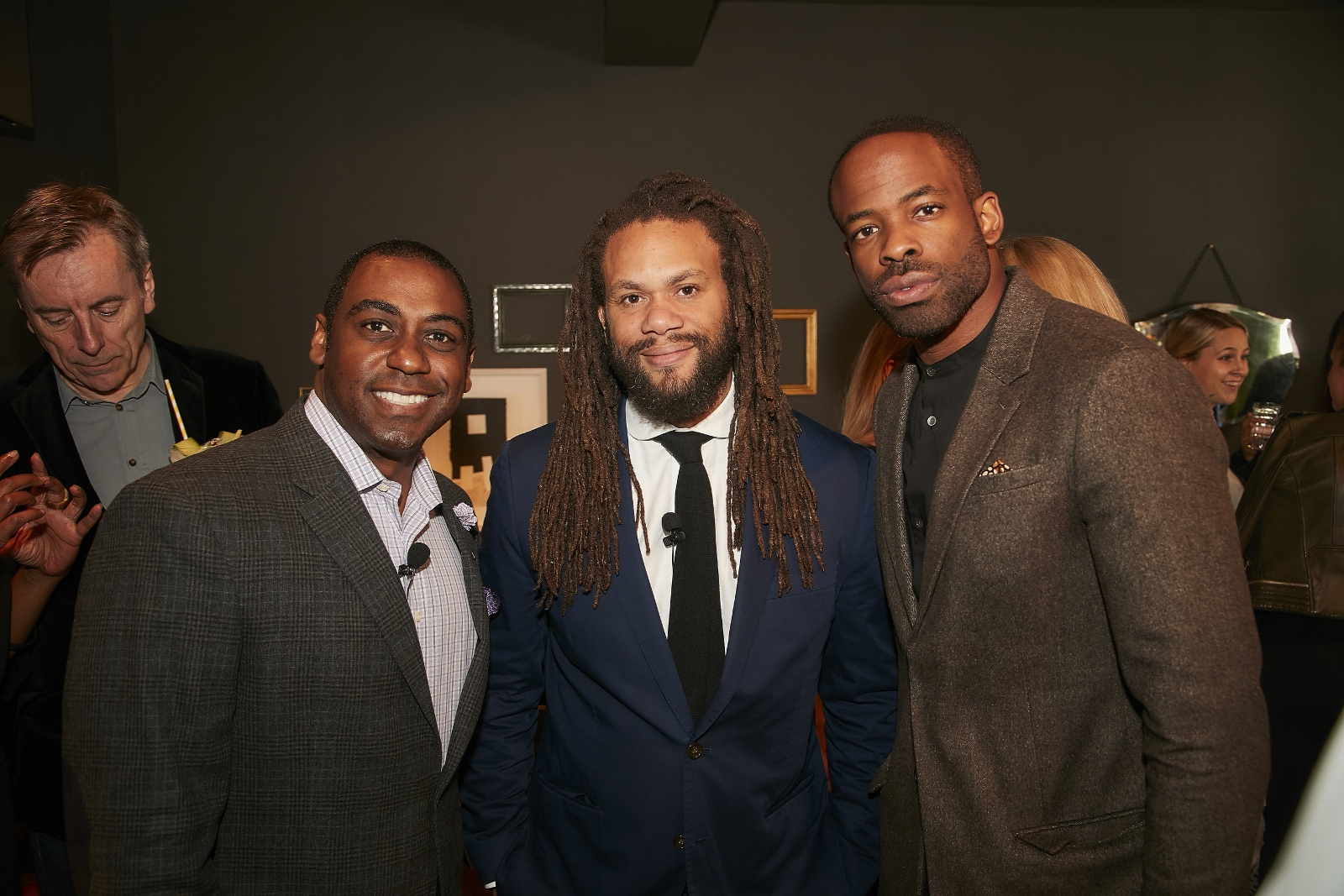 Autograph Collection Hotels Launches Unprecedented Cultural Program Focusing On Independent Film. Pictured: Julius Robinson, Franklin Leonard, and Chike Okonkwo at Autograph Collection's The Black List Luncheon in London
