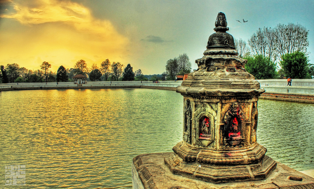"Shiddha Pokhari by Dhilung Kirat ""This centuries old pond is situated at Dudhpati-17 the entrance of the ancient city Bhaktapur. This 275m×92m pond was built in the early fifteenth century during the reign of King Yakshya Malla. It is considered as the most ancient pond in Bhaktapur which is known to have many myths associated to it. Nowadays, the pond of both religious and archeological importance has been one of the popular hangout and dating destinations in Kathmandu valley."" (Flickr/Creative Commons)"