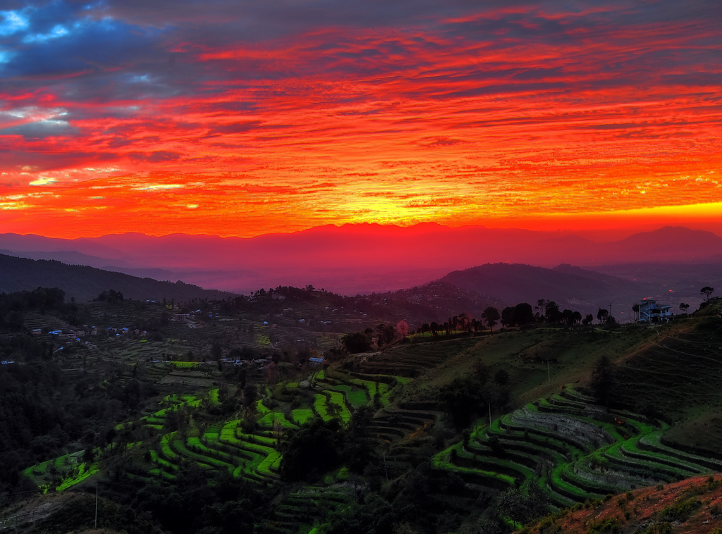 Kathmandu Valley Sunset by Mike Behnken (Flickr/Creative Commons)
