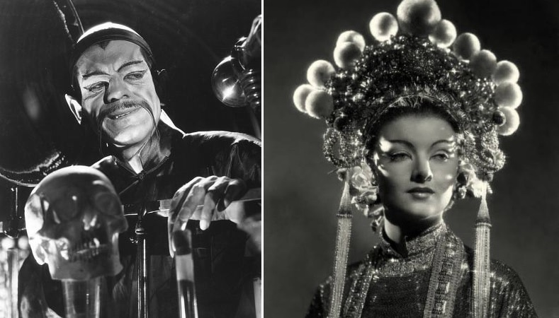 Boris Karloff and Myrna Loy in The Mask of Fu Manchu (IMDB)
