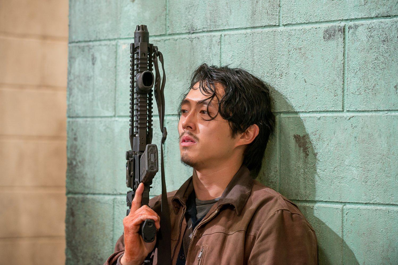 Steven Yeun as Glenn from The Walking Dead.