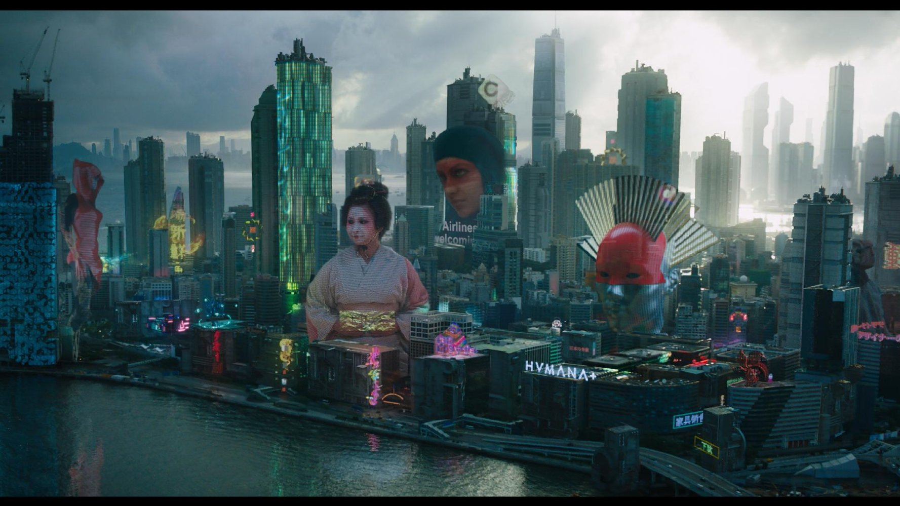 It literally uses the same billboard idea from Blade Runner. (Paramount Pictures)