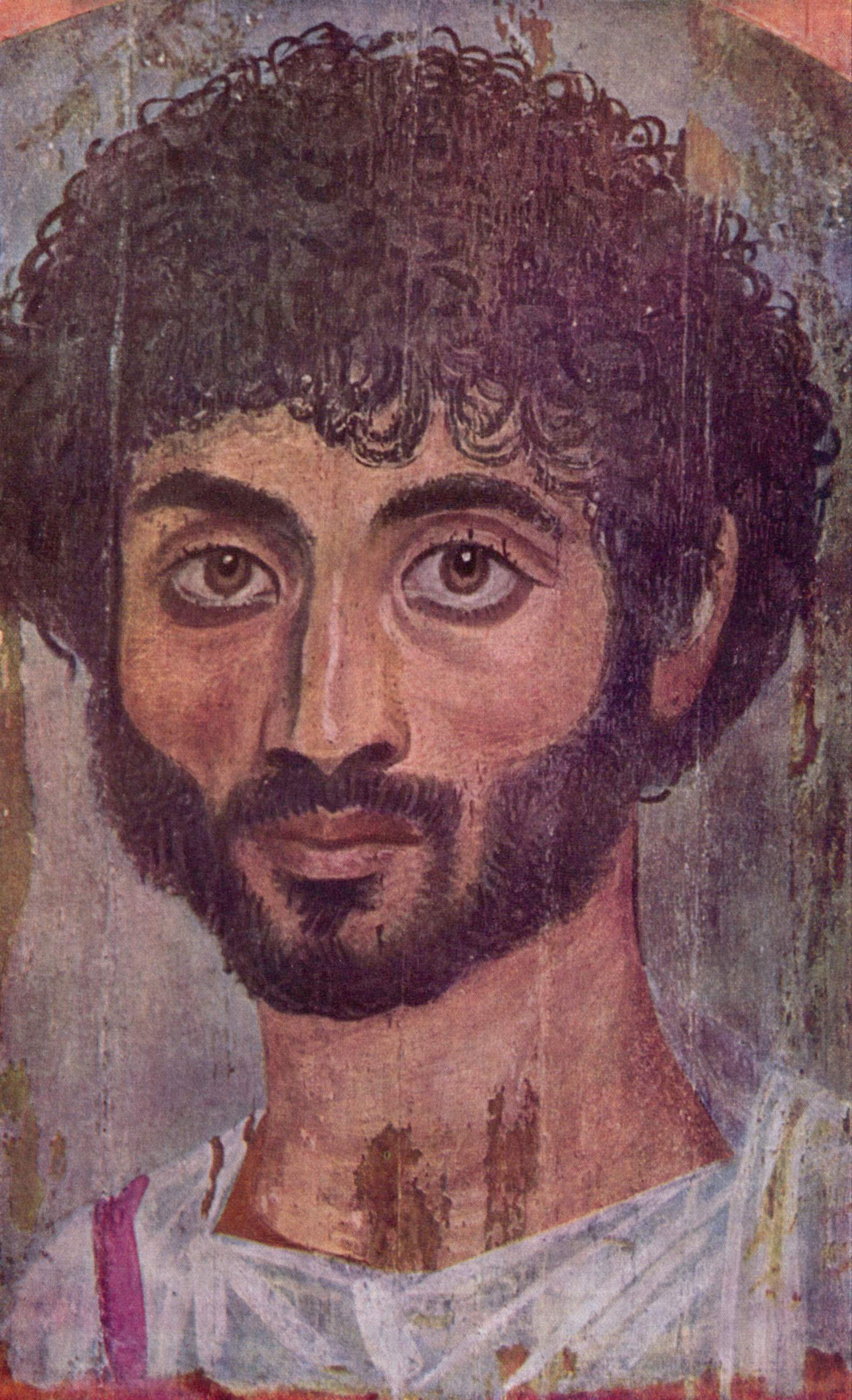 Portrait of a man from the Fayum province, Metropolitan Museum of Art.