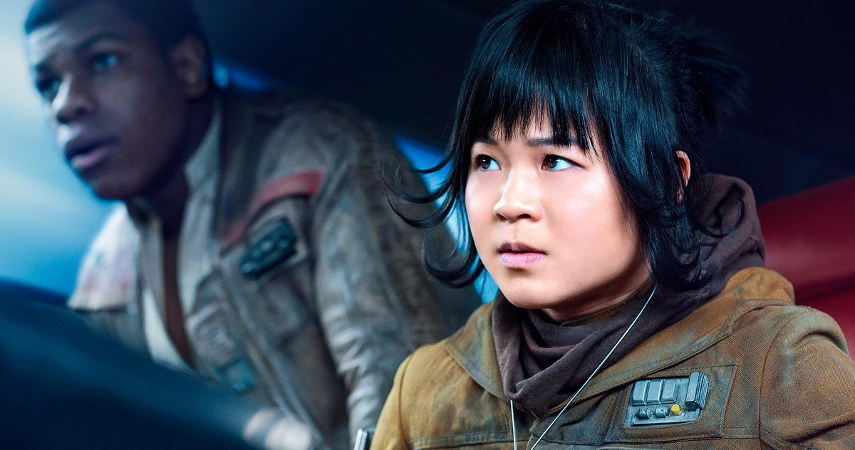 Kelly Marie Tran as Rose Tico with John Boyega as Finn