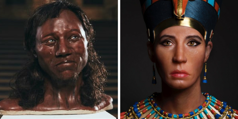Reconstructions of Cheddar Man and the Younger Lady