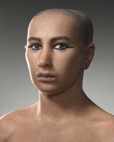 Forensic reconstruction of Tutankhamun.