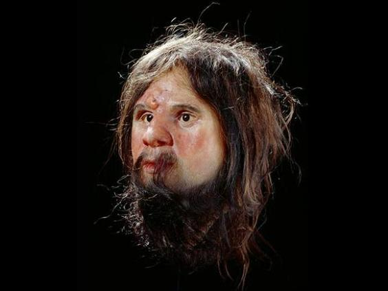 An early bust of Cheddar Man, which depicted him as white.