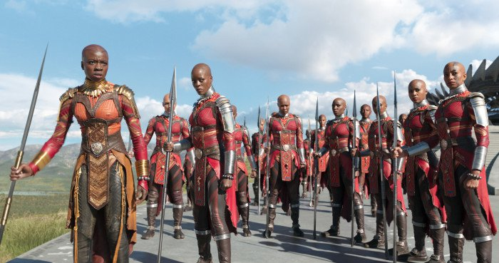 The Dora Milaje, headed by Okoye.
