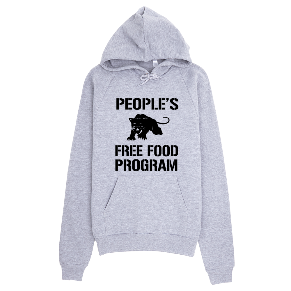 People's Free Food Program hoodie in light grey