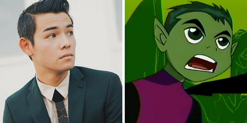 Ryan Potter and Beast Boy