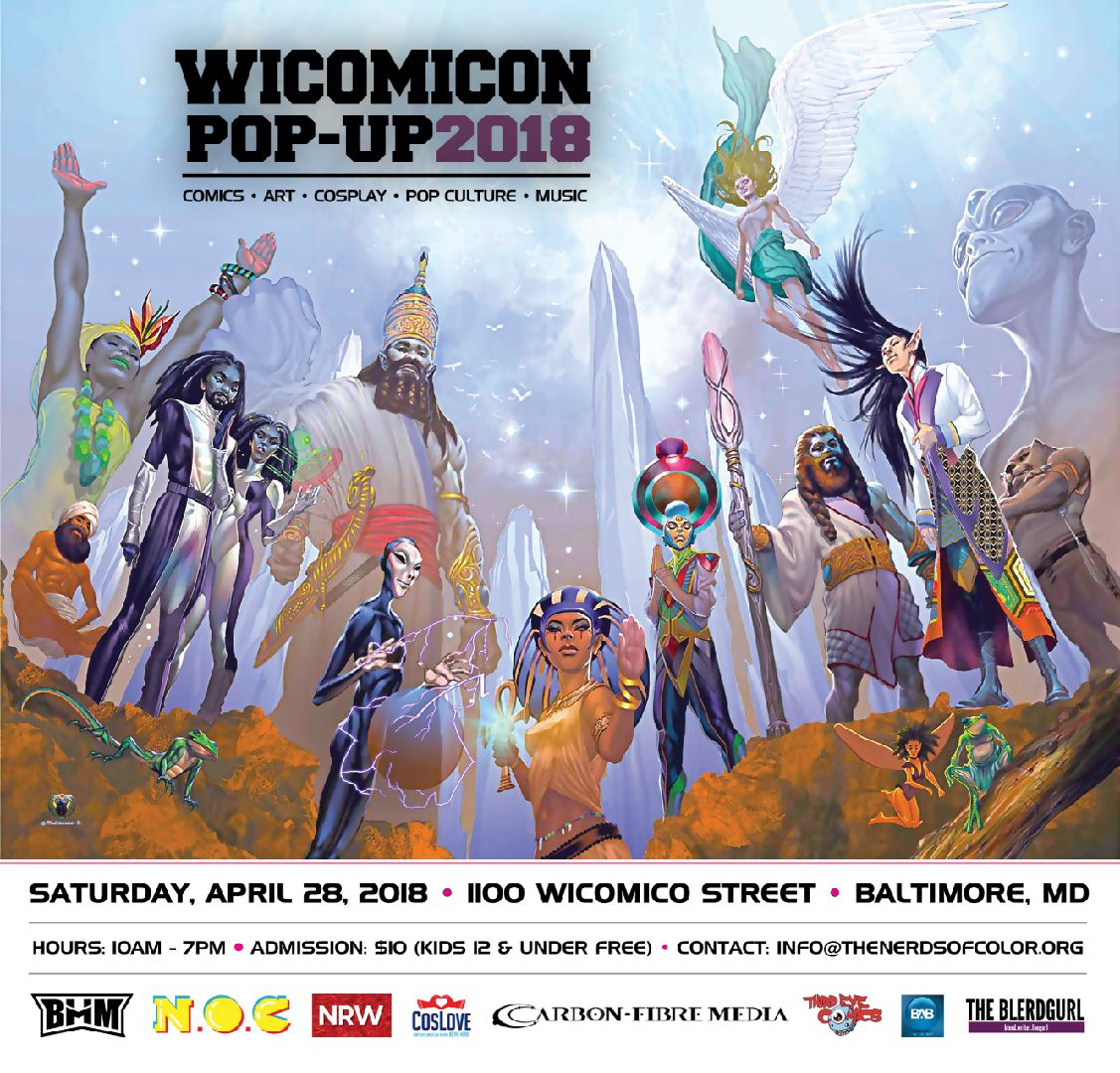 WICOMICON: Saturday April 28, 1100 Wicomico Street, Baltimore, MD, 10 am to 7 pm