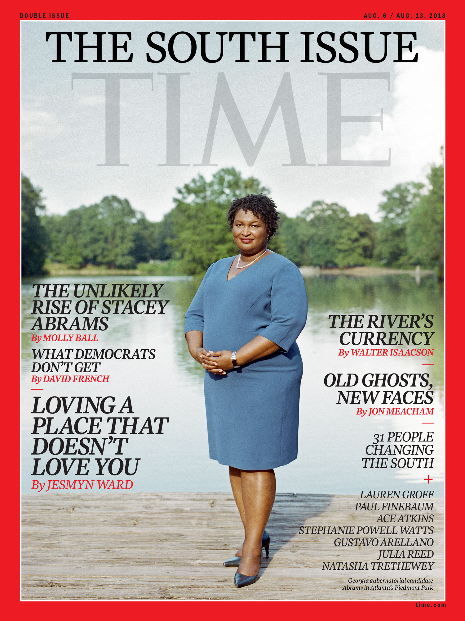 Cover for Time: The South Issue featuring Georgia Democratic gubernatorial candidate Stacey Abrams