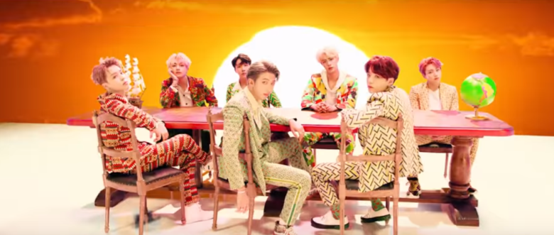 BTS wearing ankara suits in IDOL.