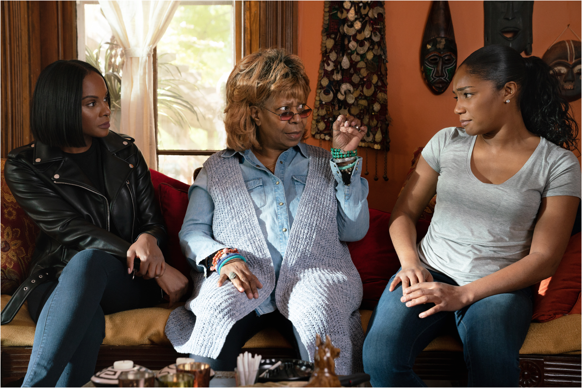 (L-R) Tika Sumpter, Whoopi Goldberg and Tiffany Haddish in Nobody's Fool from PARAMOUNT PICTURES, PARAMOUNT PLAYERS, TYLER PERRY STUDIOS and BET FILMS.