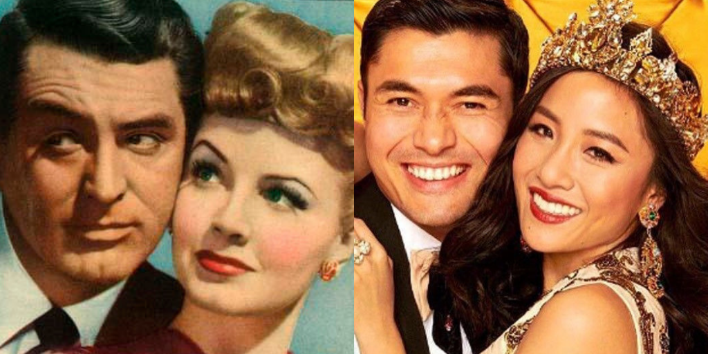 Cary Grant and Janet Blair inOnce Upon a Time. Henry Golding and Constance Wu on the Entertainment Weekly cover forCrazy Rich Asians