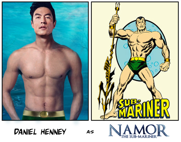 Image comparing Daniel Henney to Namor