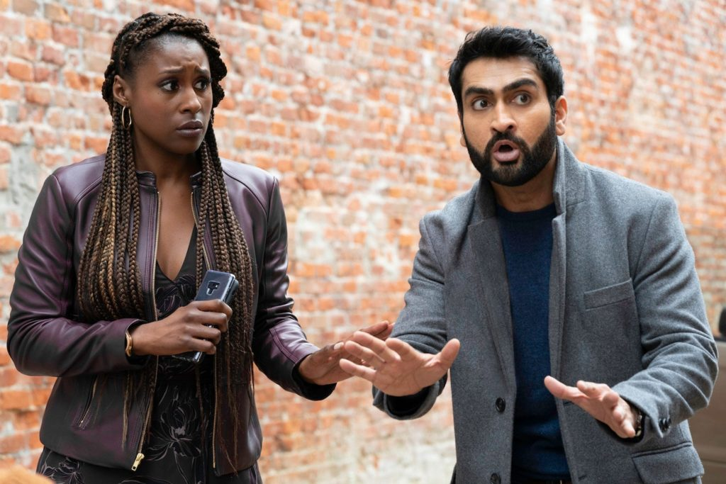 "Kumail Nanjiani and Issa Rae in ""The Lovebirds."" (Photo credit: Skip Bolen / Netflix)"