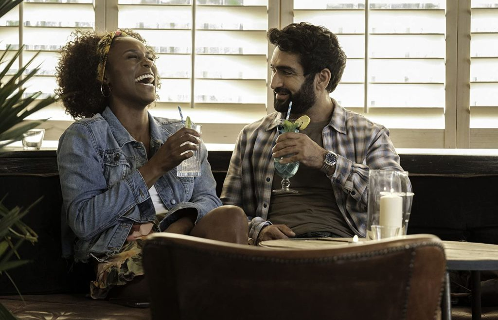"(L-R) Issa Rae and Kumail Nanjiani in ""The Lovebirds."" (Photo credit: Skip Bolen / Netflix)"