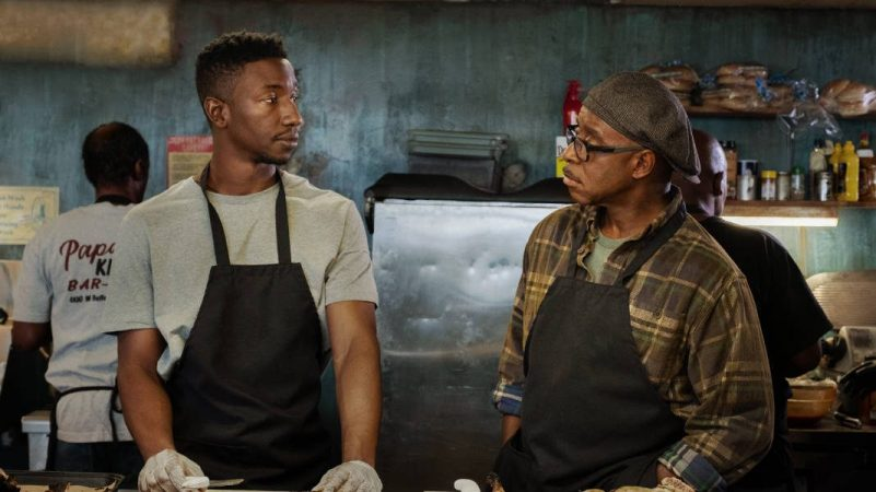 Mamadou Athie and Courtney B. Vance in Uncorked
