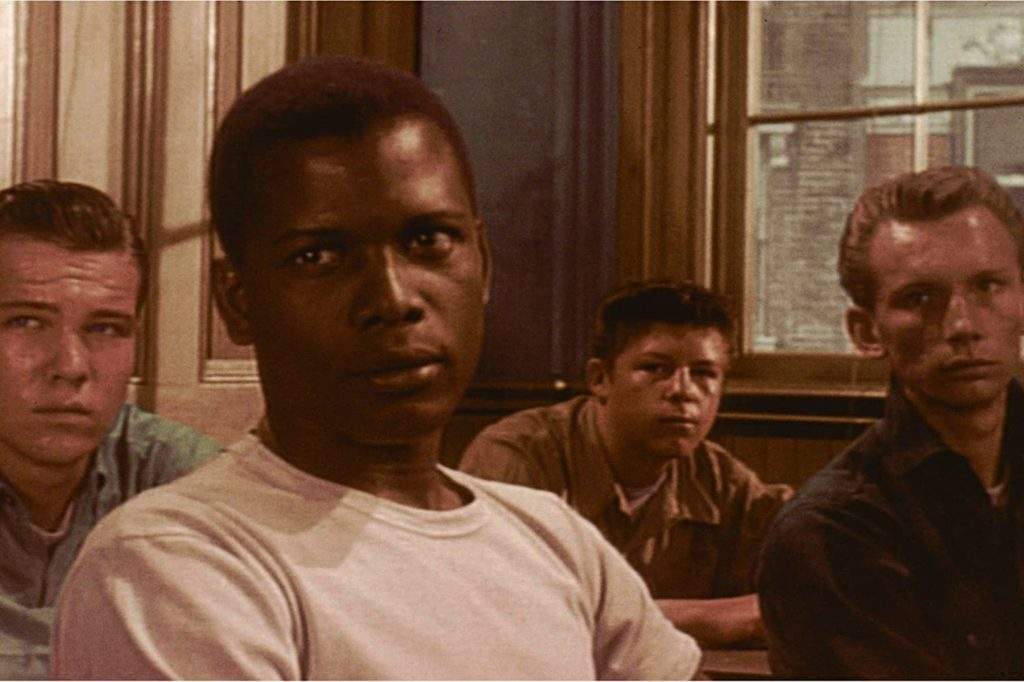 Sidney Poitier stars in Blackboard Jungle, which will air on TCM this month.