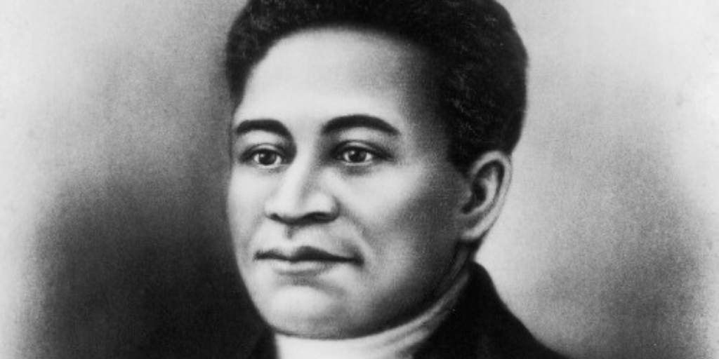 Speculative portrait of Crispus Attucks. (Public Domain). One of the Black people who were affected by Hamilton and the Founding Fathers.