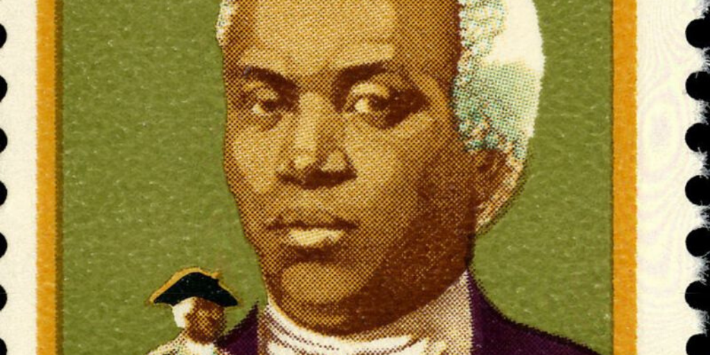 Portrait (probably speculative) of Benjamin Banneker. (Photo credit: U.S. Postal Service) One of the Black people who were affected by Hamilton and the Founding Fathers.