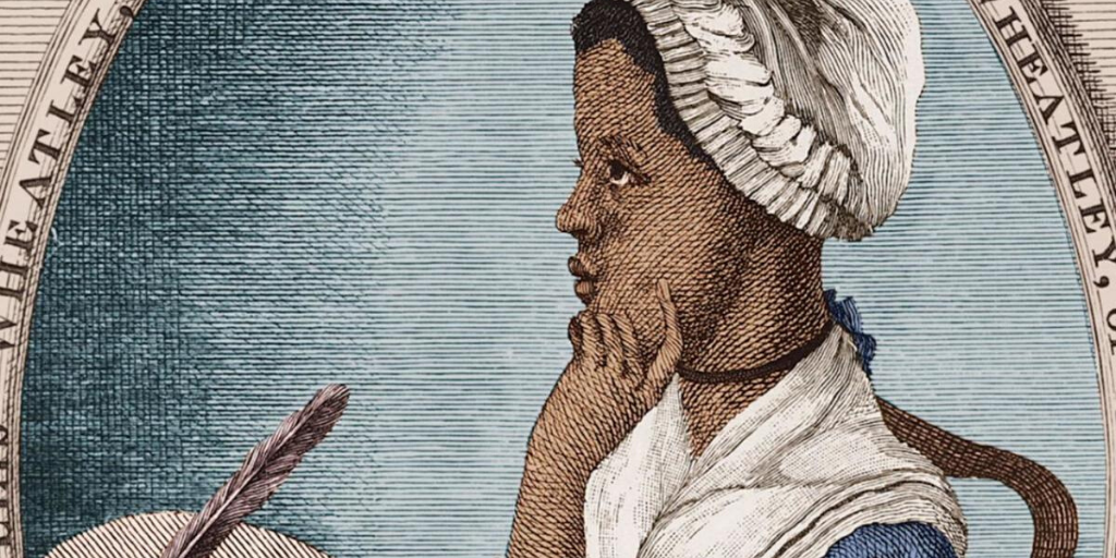 Colorized portrait of Phillis Wheatley (Photo credit for original Black and white print: possibly Scipio Moorhead/Public Domain). One of the Black people who were affected by Hamilton and the Founding Fathers.