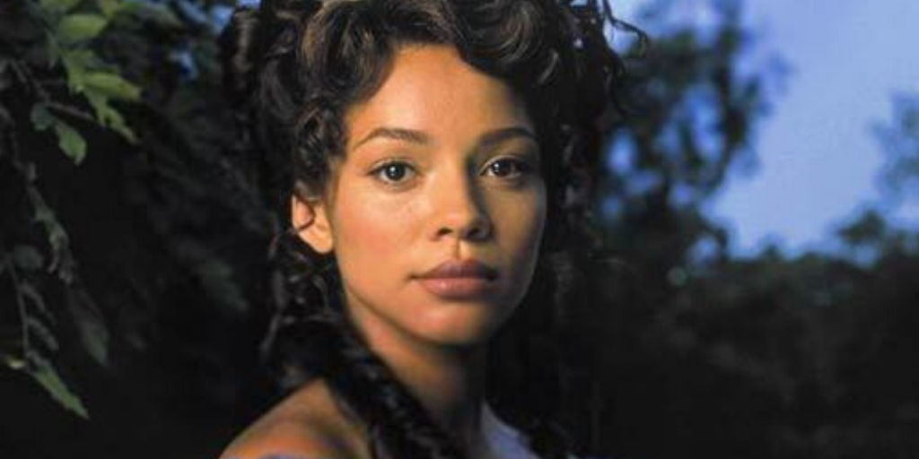 Carman Ejogo in Sally Hemings: An American Scandal. One of the Black people who were affected by Hamilton and the Founding Fathers. (photo credit: Echo Bridge Home Entertainment)