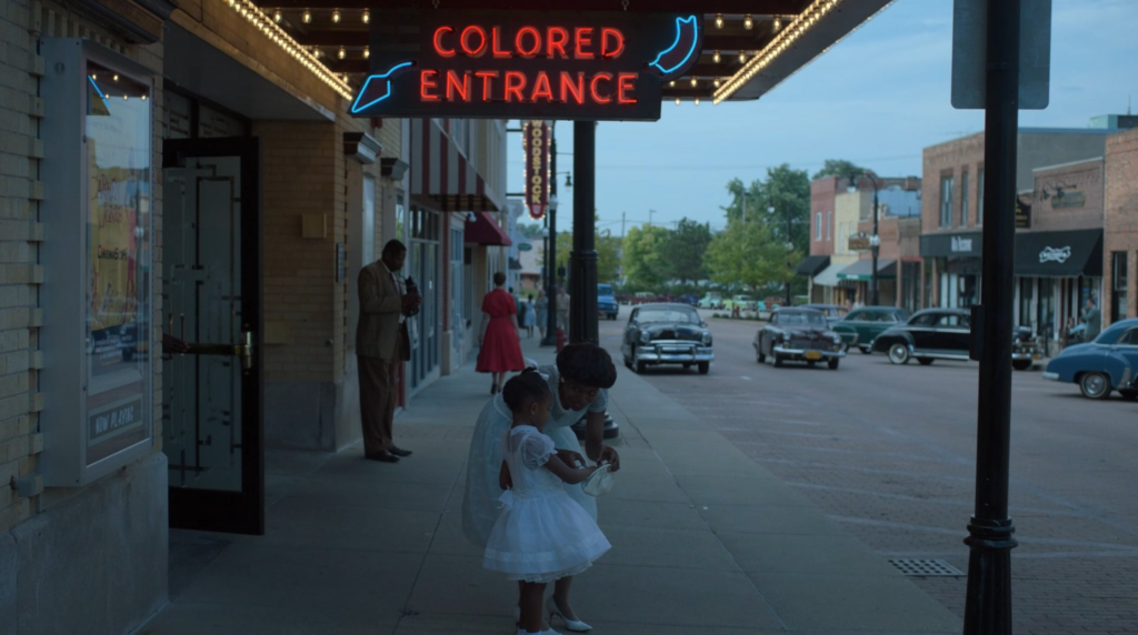 "The show echoes Gordon Park's ""Department Store"", taken in Alabama. (Photo credit: HBO)"