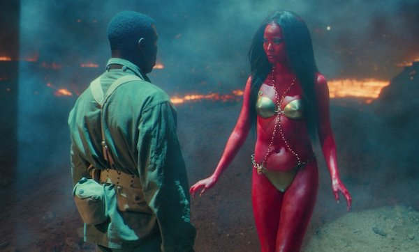 Jamie Chung as a Martian Princess, presumably Dejah Thoris in Lovecraft Country. (Photo credit: HBO)