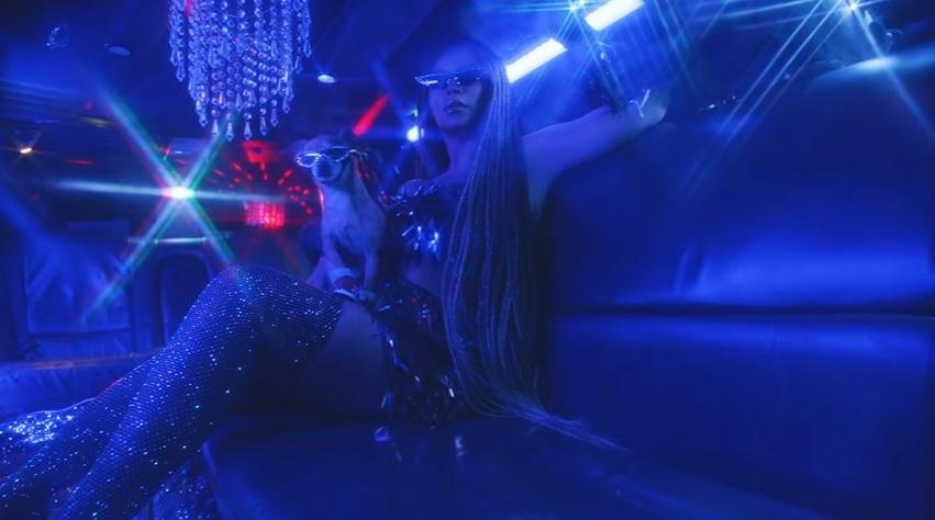 "Beyoncé in diamonds in ""Black Is King."" (photo credit: Disney+/screencap)"