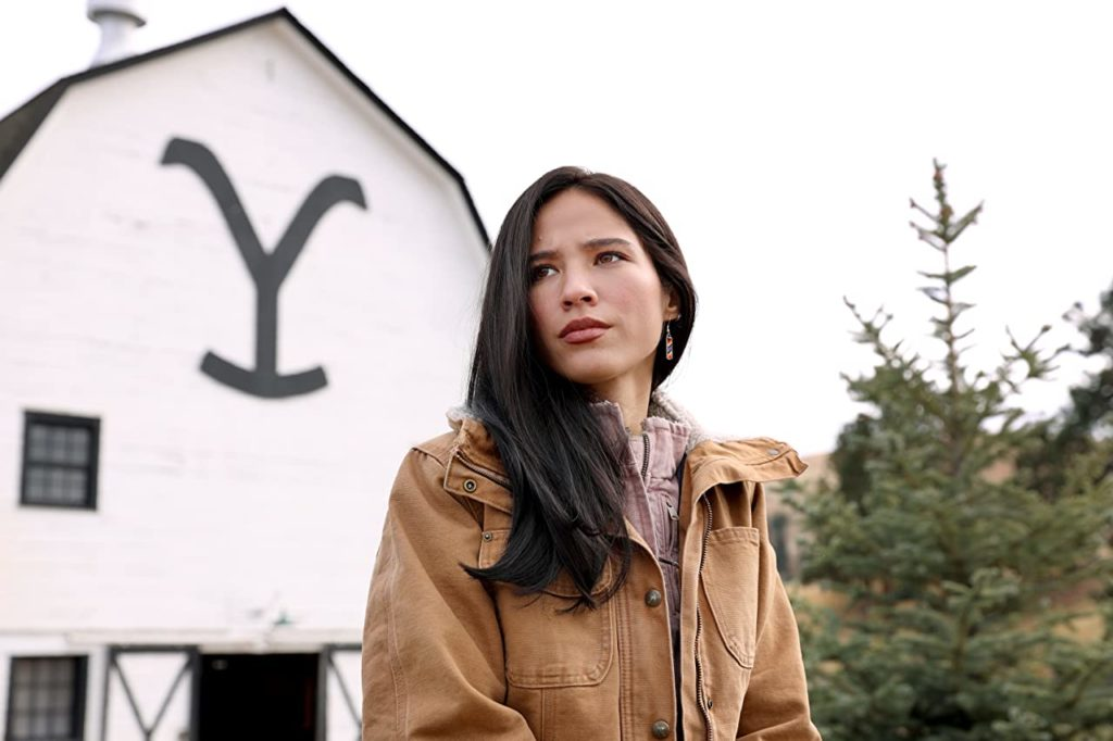 Kelsey Asbille in Yellowstone.