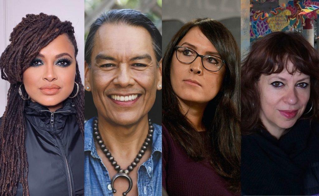 (L-R) Ava DuVernay, Bird Runningwater, Sydney Freeland, and producer Shaz Bennett. (Photos courtesy NBC, photo compilation from Shadow And Act)
