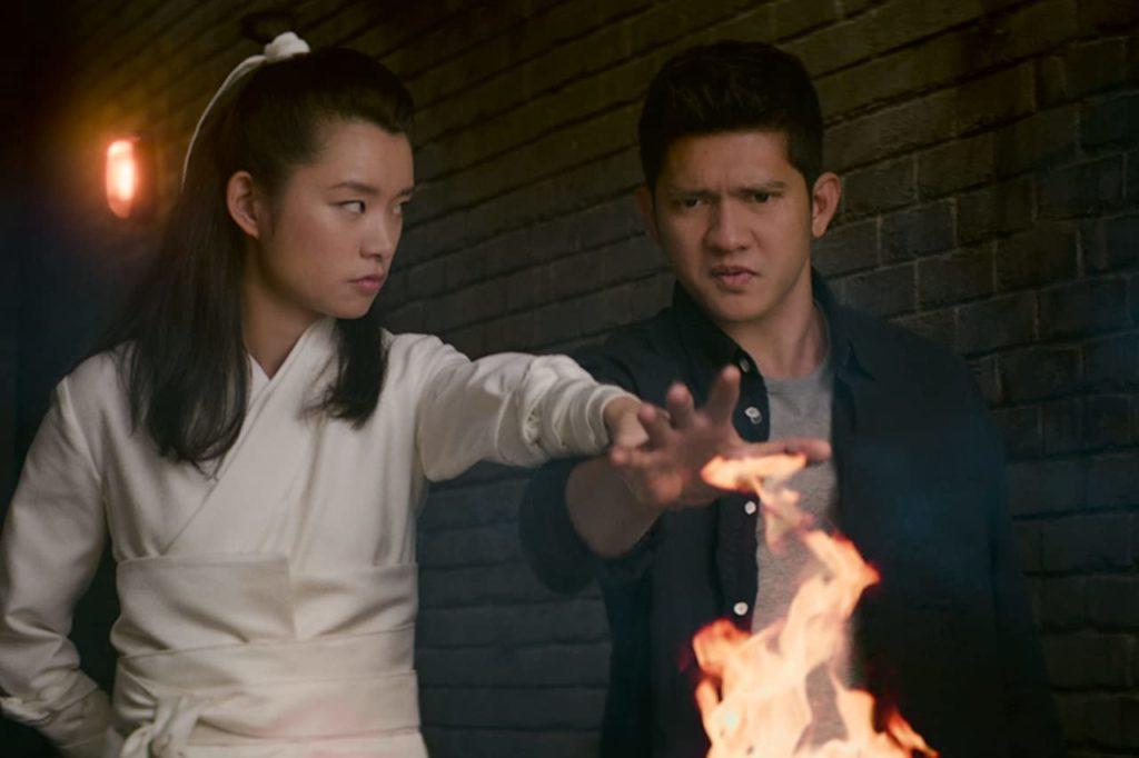 Celia Au and Iko Uwais in Wu Assassins.