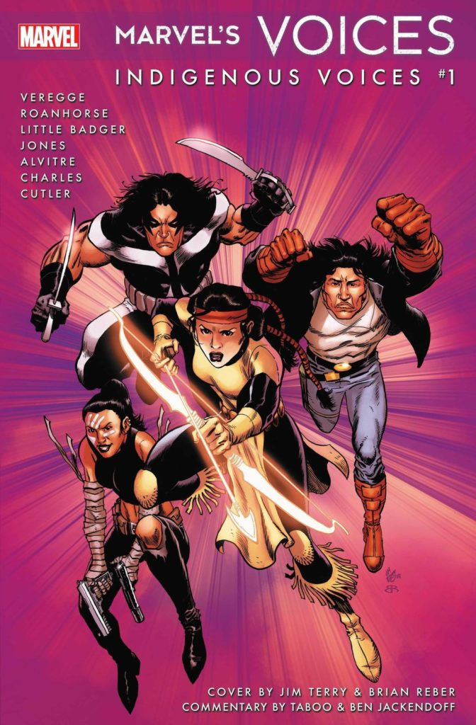 Marvel's Voices: Indigenous Voices #1 cover by Jim Terry and Brian Reber (Photo credit: Marvel)