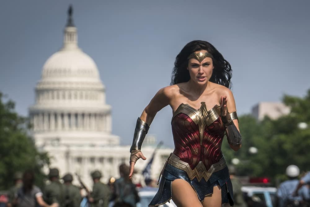 Gal Gadot as Diana running toward a national threat. (Photo credit: Warner Bros.)