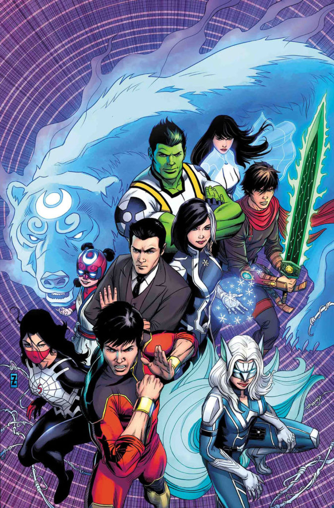 Agents of Atlas cover, featuring Jimmy Woo, Shang-Chi, Silk, and many more. (Photo credit: Marvel Comics)