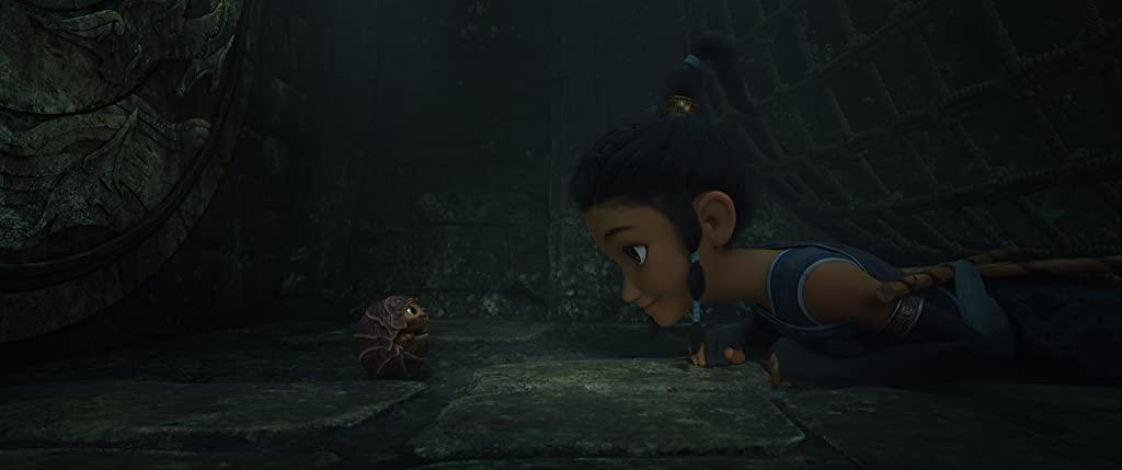 Kelly Marie Tran as young Raya in Raya and the Last Dragon. (Photo credit: Disney)