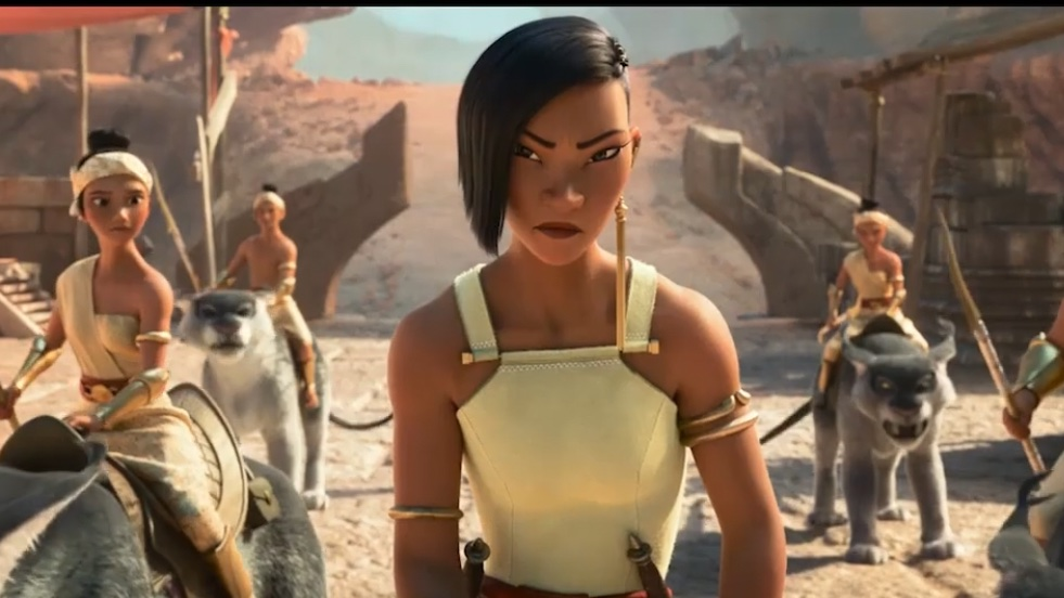 Gemma Chan as Namaari in Raya and the Last Dragon. (Photo credit: Disney)
