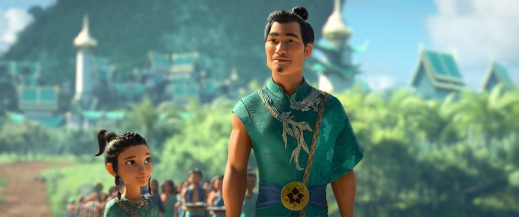 Daniel Dae Kim as Chief Benja in Raya and the Last Dragon. (Photo credit: Disney)