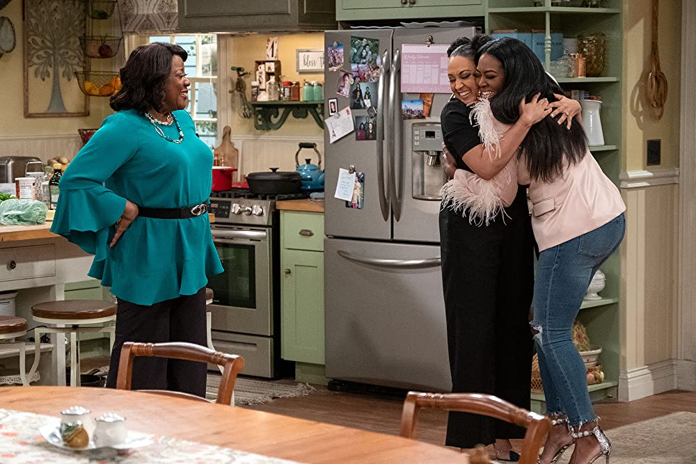 (l-r) Loretta Devine, Tia Mowry-Hardrict and Kenya Moore in Family Reunion (Netflix)